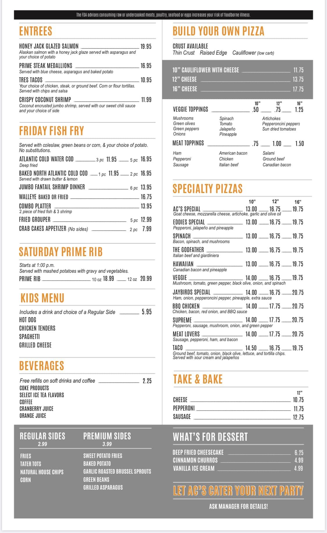 AC's Pub food menu-2